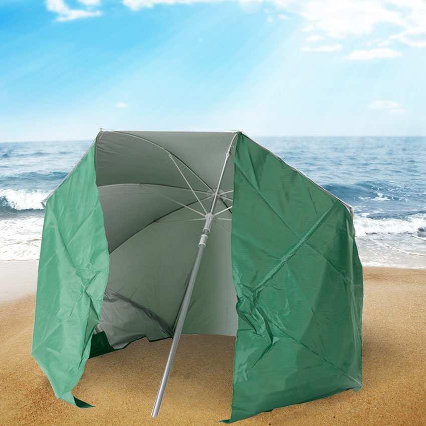 miniature 22 - Parasol de plage portable moto pliable léger aluminium tente 200 cm Piuma