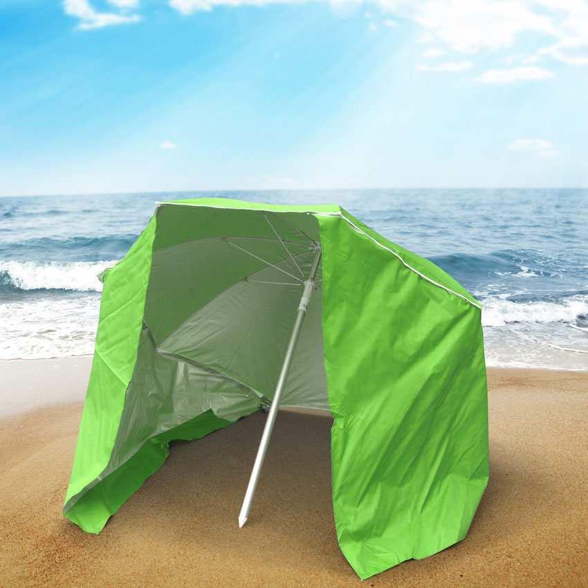 miniature 20 - Parasol de plage portable moto pliable léger aluminium tente 200 cm Piuma