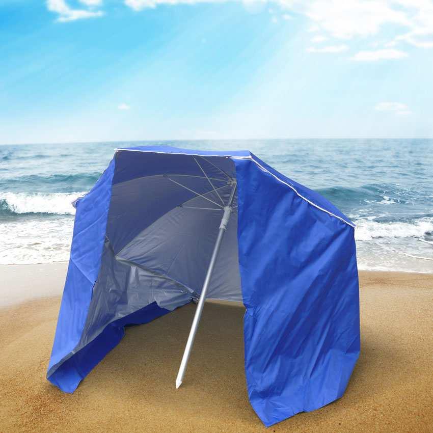 miniature 16 - Parasol de plage portable moto pliable léger aluminium tente 200 cm Piuma