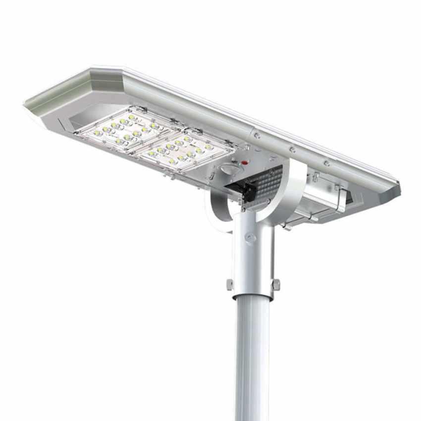 Lampione LED a Energia Solare 2000 Lumen con Pannello Solare e Sensori per Strade Piazze Parcheggi ATLAS - promo