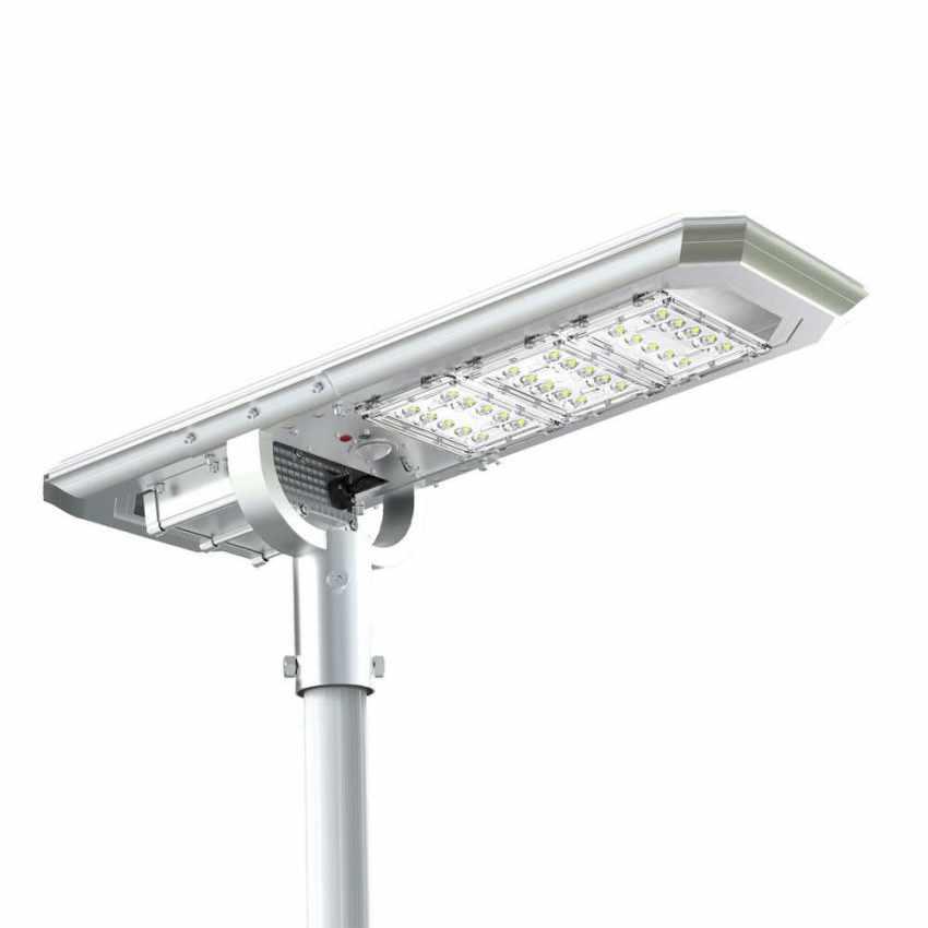 Lampadaire routier LED à Énergie Solaire 3000 Lumens avec Panneau Intégré et Capteur TERMINATOR - discount