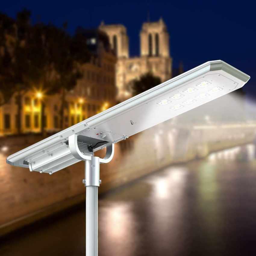 Lampione LED a Energia Solare 7000 Lumen MAZINGA con Sensore Crepuscolare e di Movimento - best
