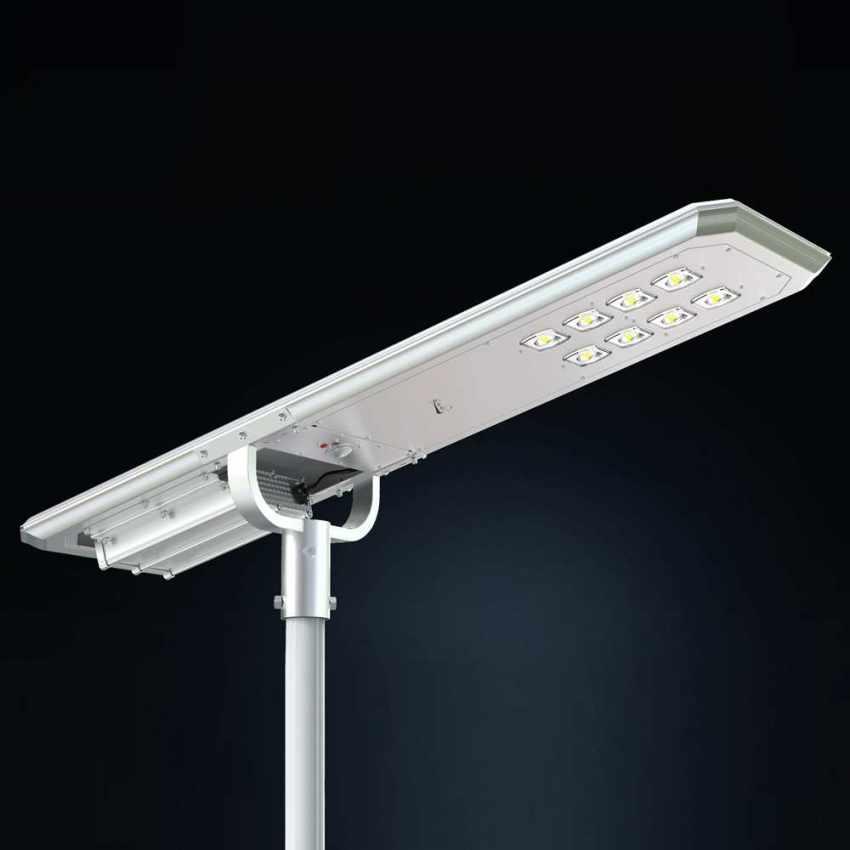 Lampione LED a Energia Solare 7000 Lumen MAZINGA con Sensore Crepuscolare e di Movimento - forniture