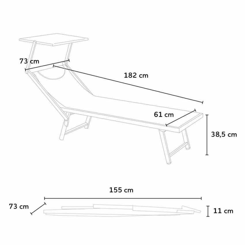 3033e725 ... Tumbonas Profesionales Aluminio SANTORINI Stock 2 piezas - outdoor