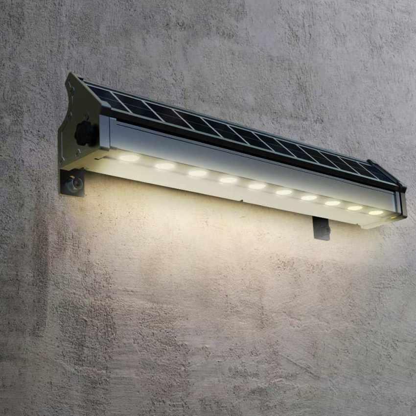LED Solarlampe Solarleuchte für Beleuchtung von Werbetafeln und Plakate BILLBOARD - image