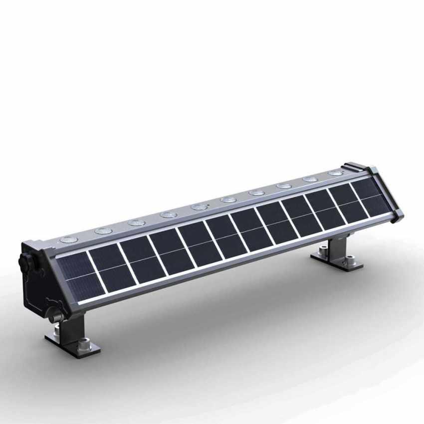 LED Solarlampe Solarleuchte für Beleuchtung von Werbetafeln und Plakate BILLBOARD - price