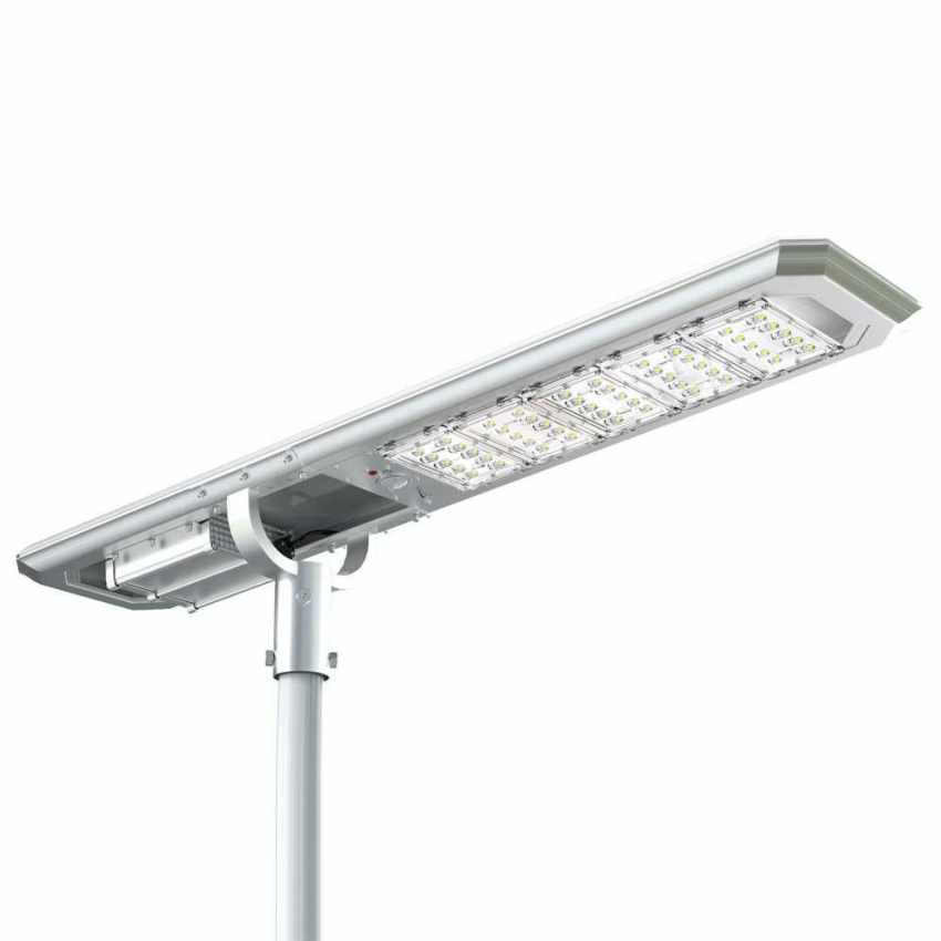 Lampione LED a Energia Solare 5000 Lumen Pannello Fotovoltaico Integrato per Giardino Parcheggio Strada GOLDRAKE - detai