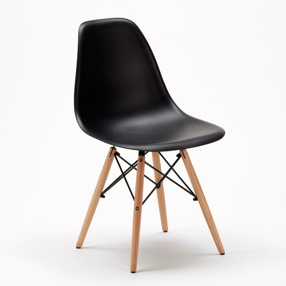 Sedie-WOODEN-Eiffel-Design-cucina-bar-sala-d-039-attesa-gambe-in-legno-polipropilene miniatura 14