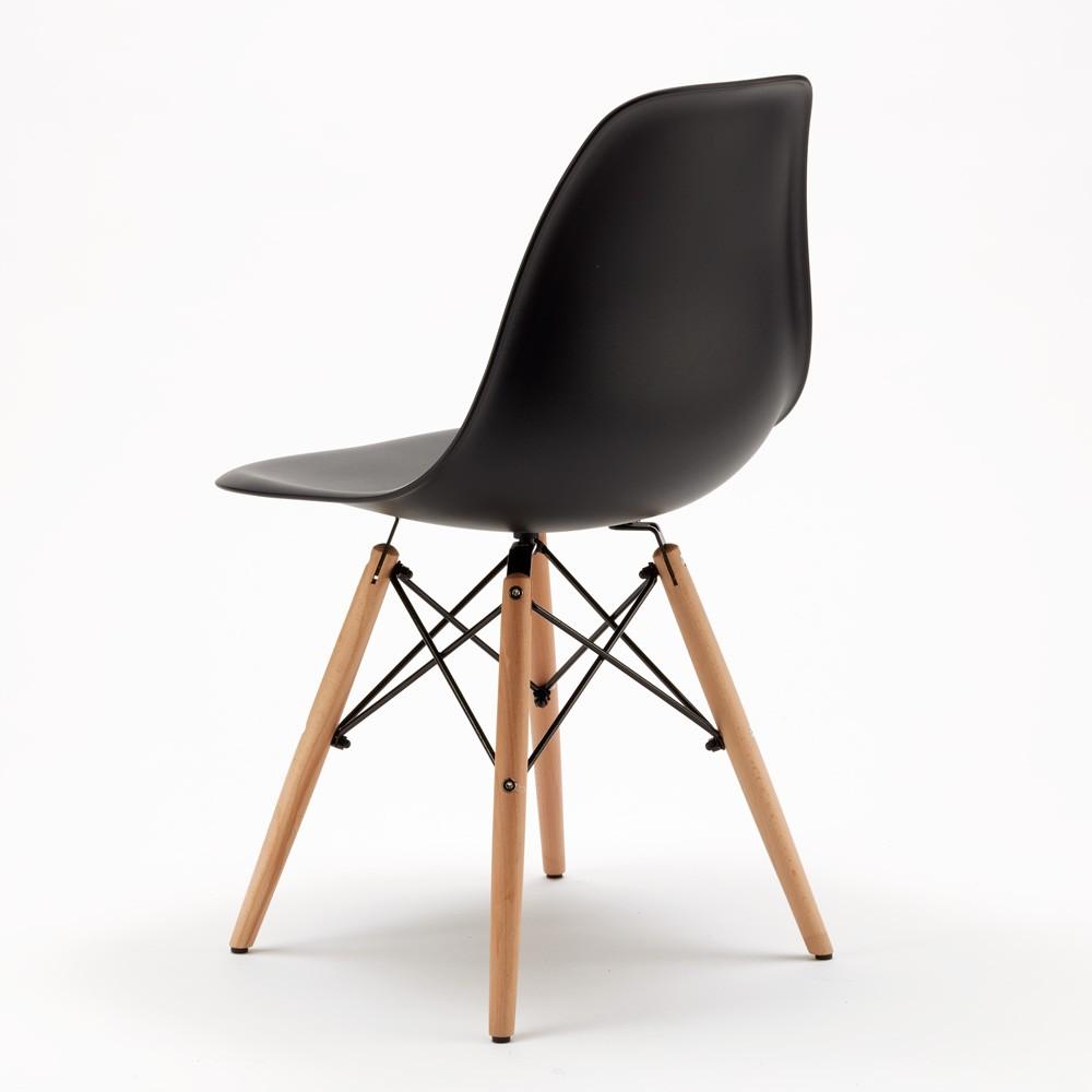 Sedie-WOODEN-Eiffel-Design-cucina-bar-sala-d-039-attesa-gambe-in-legno-polipropilene miniatura 15