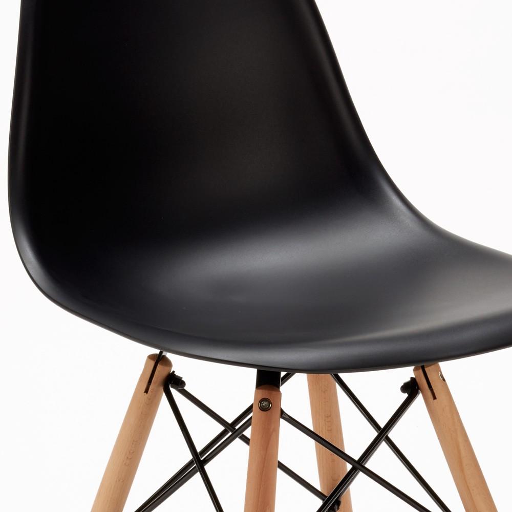 Sedie-WOODEN-Eiffel-Design-cucina-bar-sala-d-039-attesa-gambe-in-legno-polipropilene miniatura 16