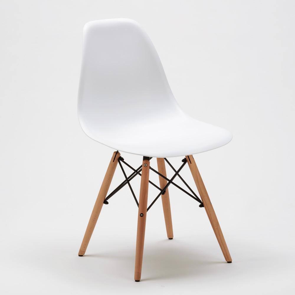 Sedie-WOODEN-Eiffel-Design-cucina-bar-sala-d-039-attesa-gambe-in-legno-polipropilene miniatura 24