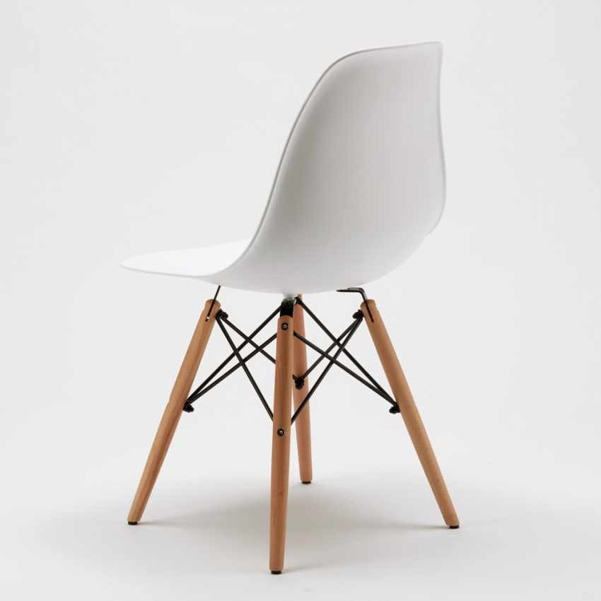 Chaise WOODEN Eiffel Design salle à manger bar scandinave bois polypropylène - discount