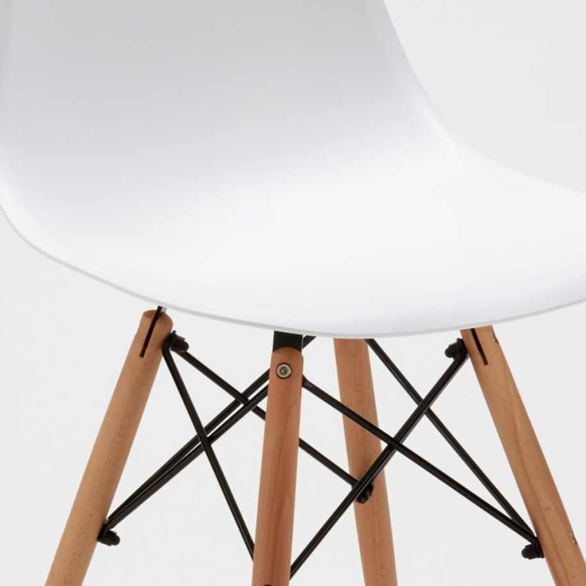Chaise WOODEN Eiffel Design salle à manger bar scandinave bois polypropylène - forniture