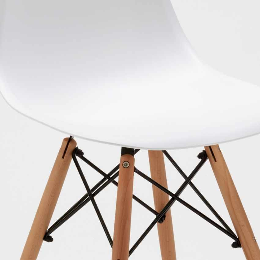 Sedie WOODEN Eiffel Design cucina bar sala d'attesa e ufficio legno polipropilene - outdoor