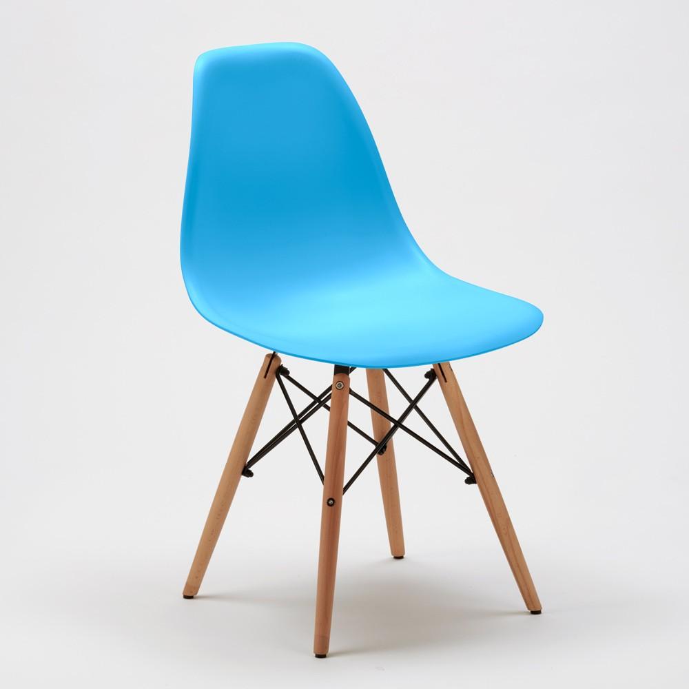 Sedie-WOODEN-Eiffel-Design-cucina-bar-sala-d-039-attesa-gambe-in-legno-polipropilene miniatura 49