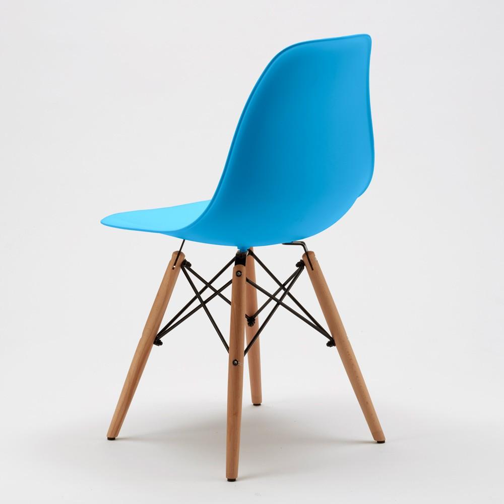 Sedie-WOODEN-Eiffel-Design-cucina-bar-sala-d-039-attesa-gambe-in-legno-polipropilene miniatura 50