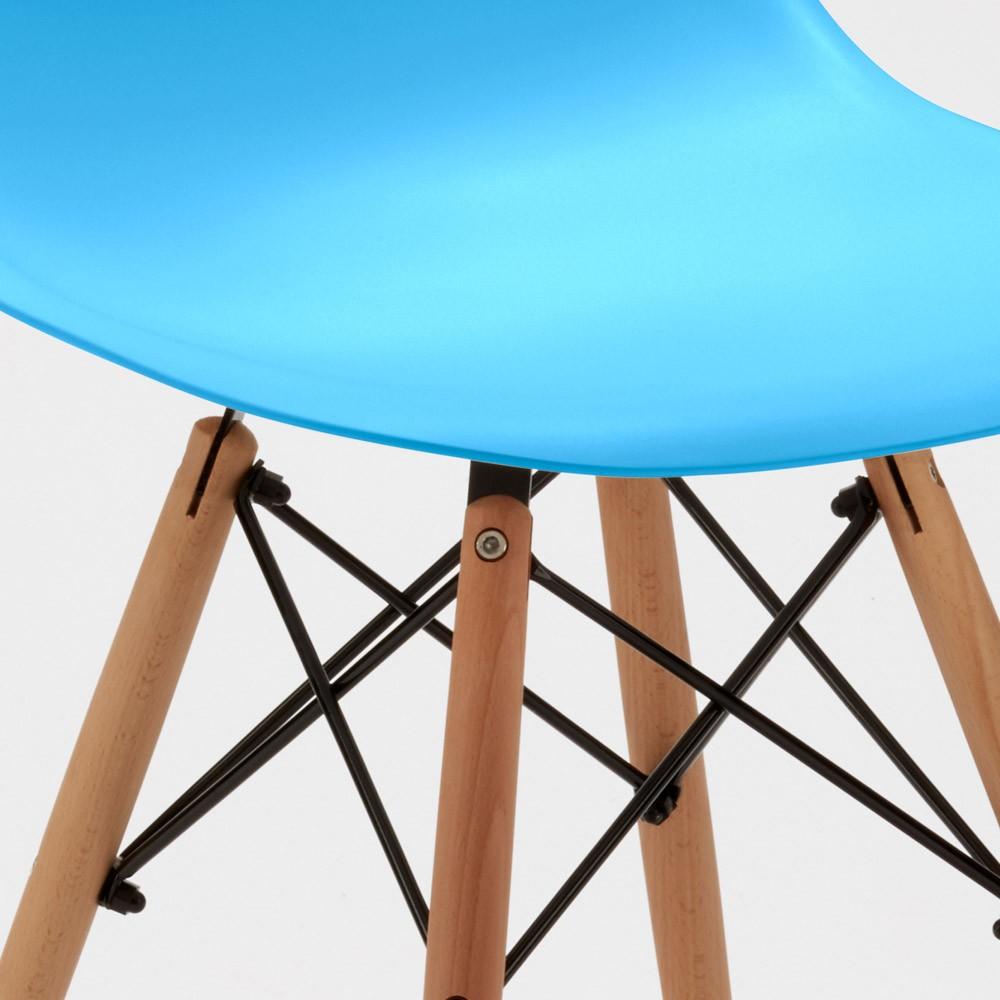 Sedie-WOODEN-Eiffel-Design-cucina-bar-sala-d-039-attesa-gambe-in-legno-polipropilene miniatura 51