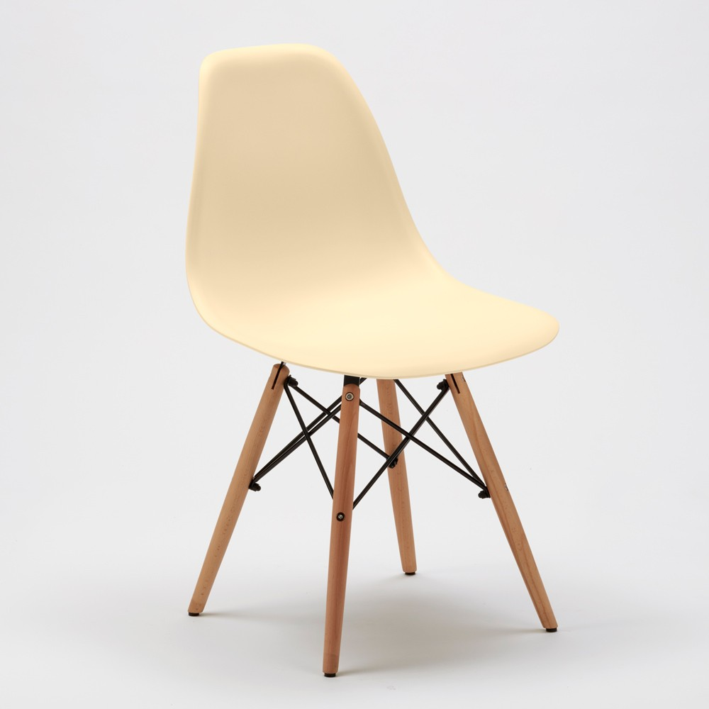 Sedie-WOODEN-Eiffel-Design-cucina-bar-sala-d-039-attesa-gambe-in-legno-polipropilene miniatura 29