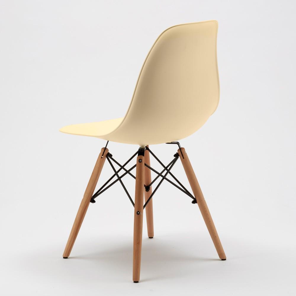 Sedie-WOODEN-Eiffel-Design-cucina-bar-sala-d-039-attesa-gambe-in-legno-polipropilene miniatura 30