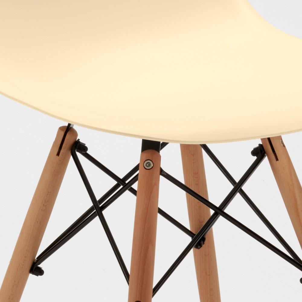 Sedie-WOODEN-Eiffel-Design-cucina-bar-sala-d-039-attesa-gambe-in-legno-polipropilene miniatura 31