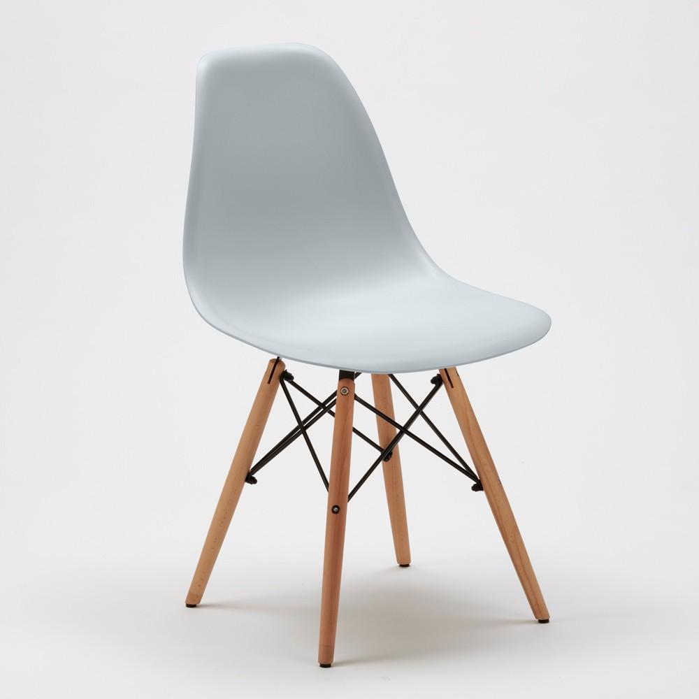 Sedie-WOODEN-Eiffel-Design-cucina-bar-sala-d-039-attesa-gambe-in-legno-polipropilene miniatura 19