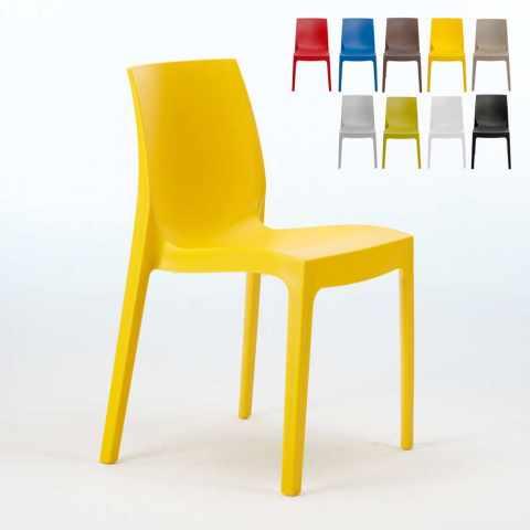 Sedie Plastica Trasparente Colorate.Sedie Di Design Grand Soleil Per Arredo Casa Arredo Bar E Locali