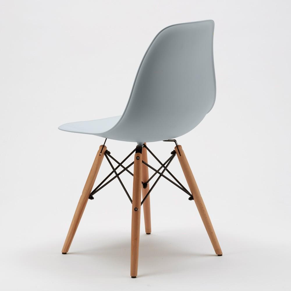 Sedie-WOODEN-Eiffel-Design-cucina-bar-sala-d-039-attesa-gambe-in-legno-polipropilene miniatura 20