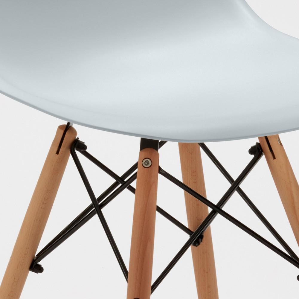 Sedie-WOODEN-Eiffel-Design-cucina-bar-sala-d-039-attesa-gambe-in-legno-polipropilene miniatura 21