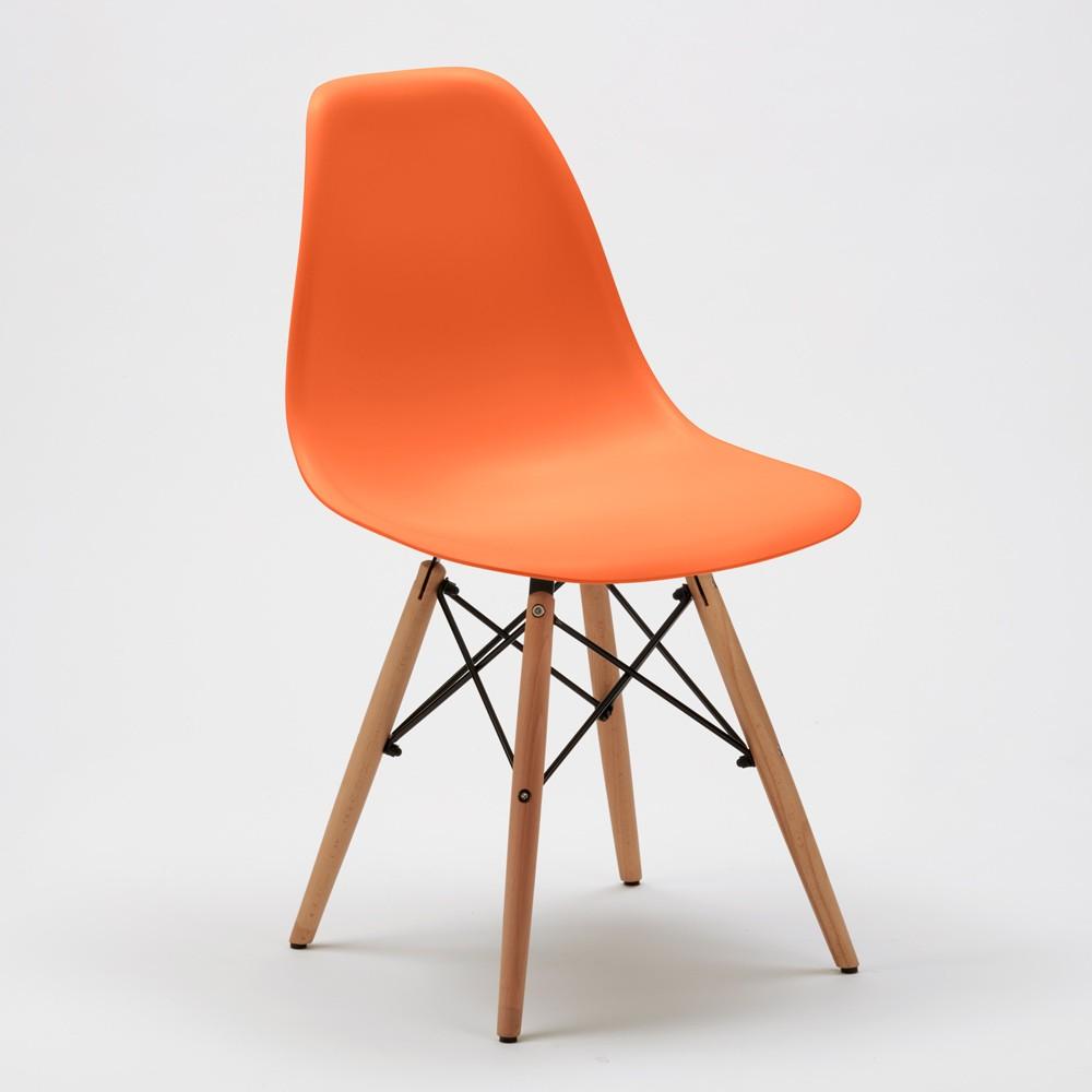Sedie-WOODEN-Eiffel-Design-cucina-bar-sala-d-039-attesa-gambe-in-legno-polipropilene miniatura 44