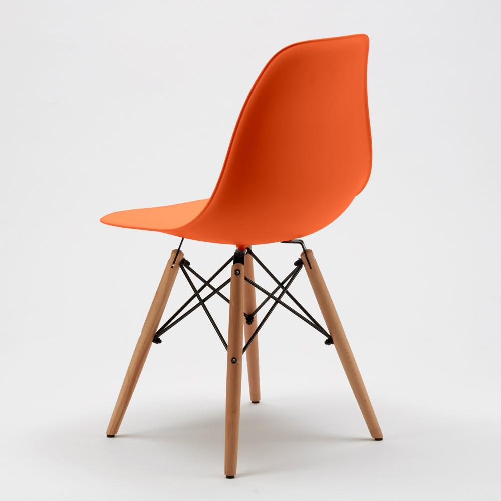 Sedie-WOODEN-Eiffel-Design-cucina-bar-sala-d-039-attesa-gambe-in-legno-polipropilene miniatura 45