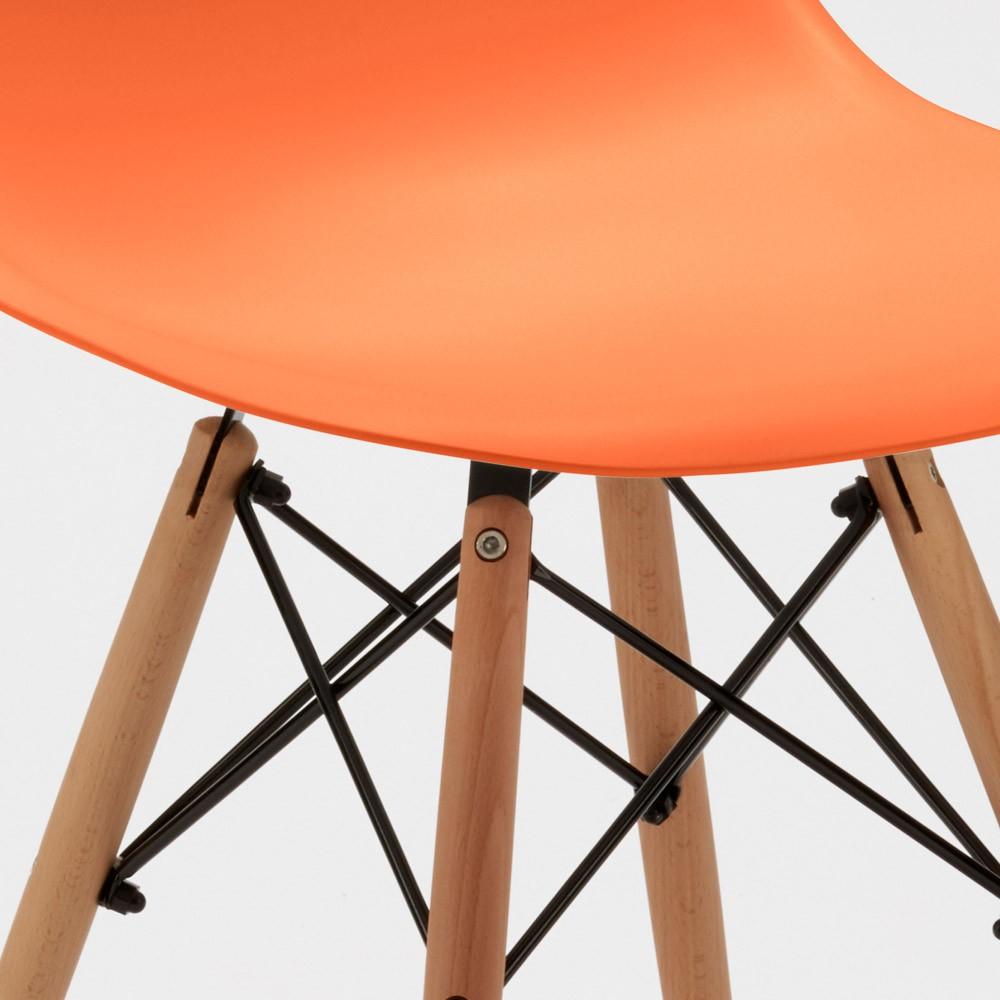 Sedie-WOODEN-Eiffel-Design-cucina-bar-sala-d-039-attesa-gambe-in-legno-polipropilene miniatura 46