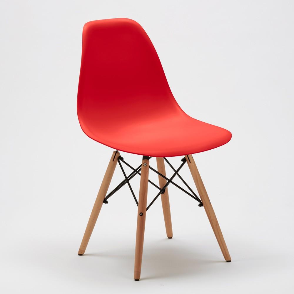 Sedie-WOODEN-Eiffel-Design-cucina-bar-sala-d-039-attesa-gambe-in-legno-polipropilene miniatura 34