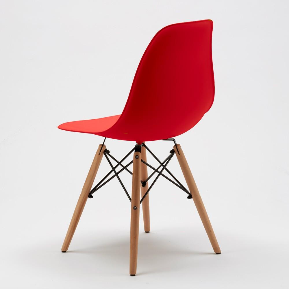 Sedie-WOODEN-Eiffel-Design-cucina-bar-sala-d-039-attesa-gambe-in-legno-polipropilene miniatura 35
