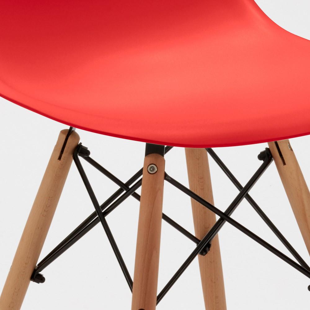 Sedie-WOODEN-Eiffel-Design-cucina-bar-sala-d-039-attesa-gambe-in-legno-polipropilene miniatura 36