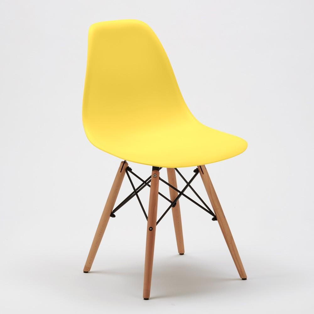 Sedie-WOODEN-Eiffel-Design-cucina-bar-sala-d-039-attesa-gambe-in-legno-polipropilene miniatura 39