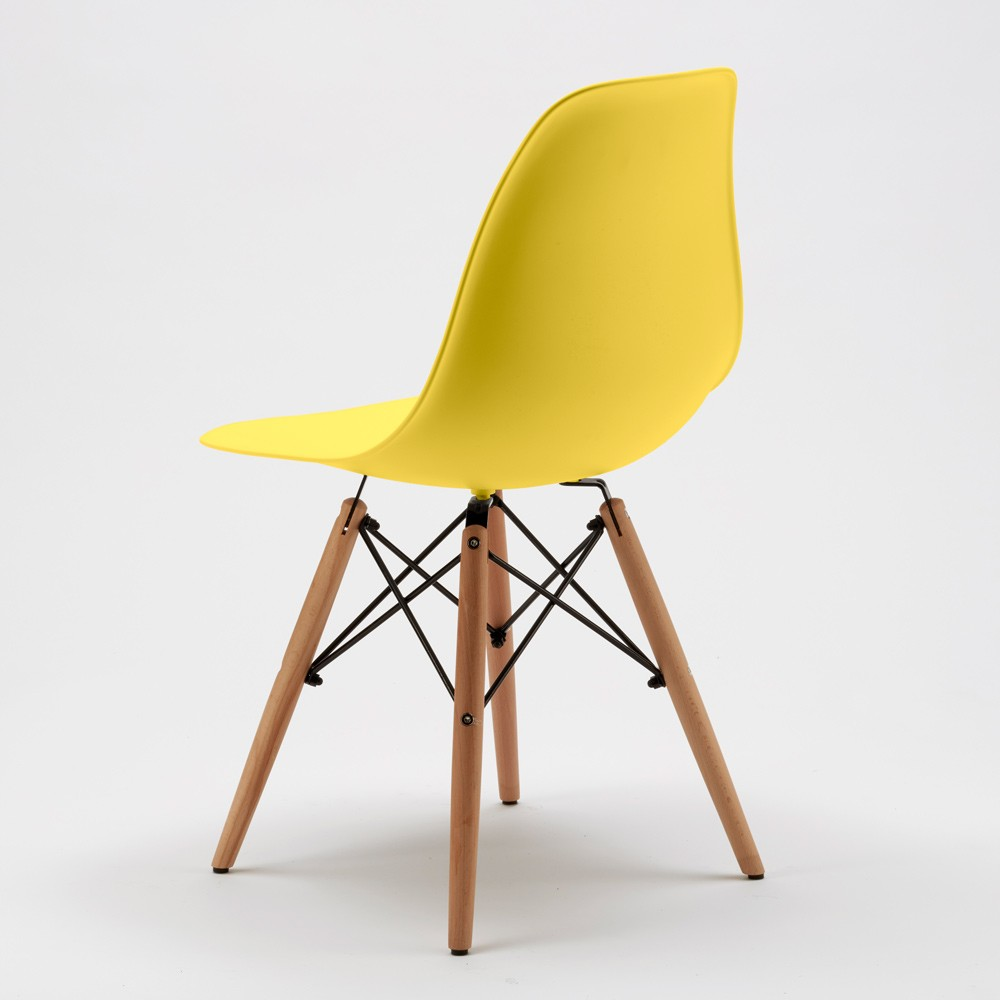 Sedie-WOODEN-Eiffel-Design-cucina-bar-sala-d-039-attesa-gambe-in-legno-polipropilene miniatura 40