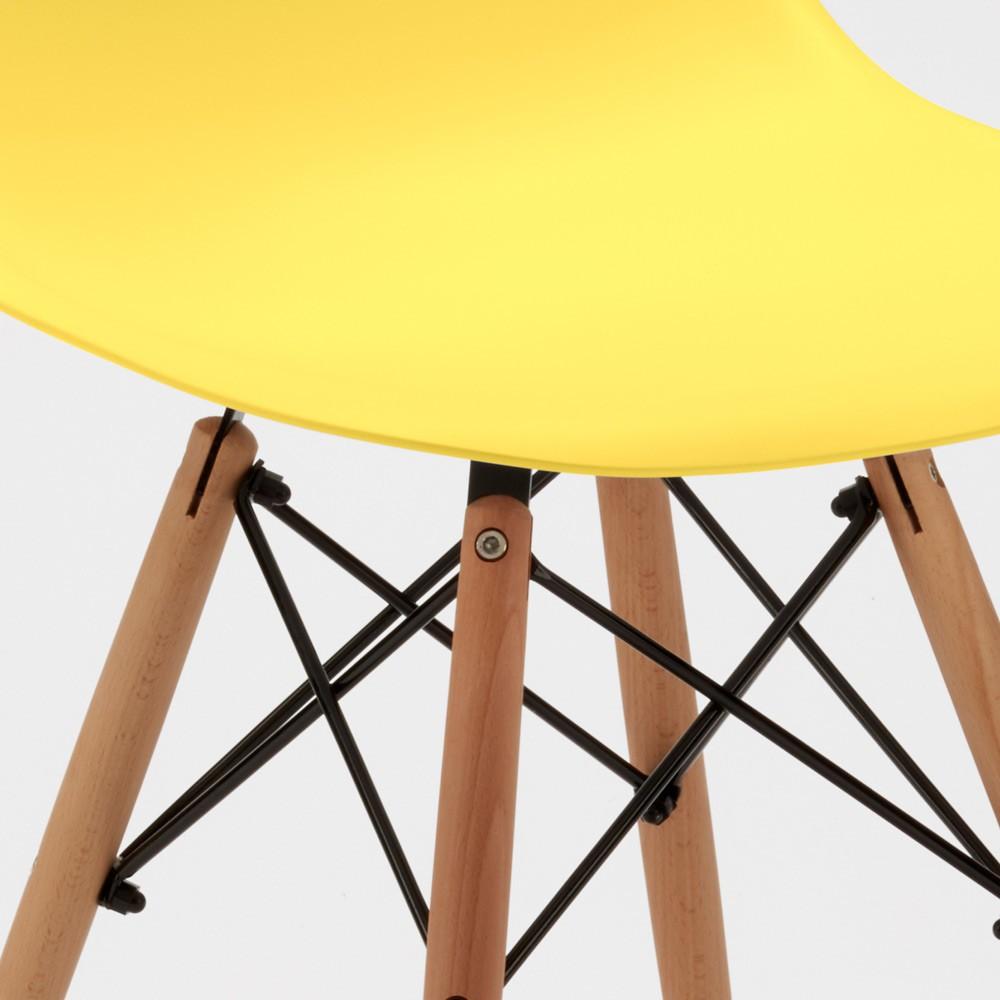 Sedie-WOODEN-Eiffel-Design-cucina-bar-sala-d-039-attesa-gambe-in-legno-polipropilene miniatura 41