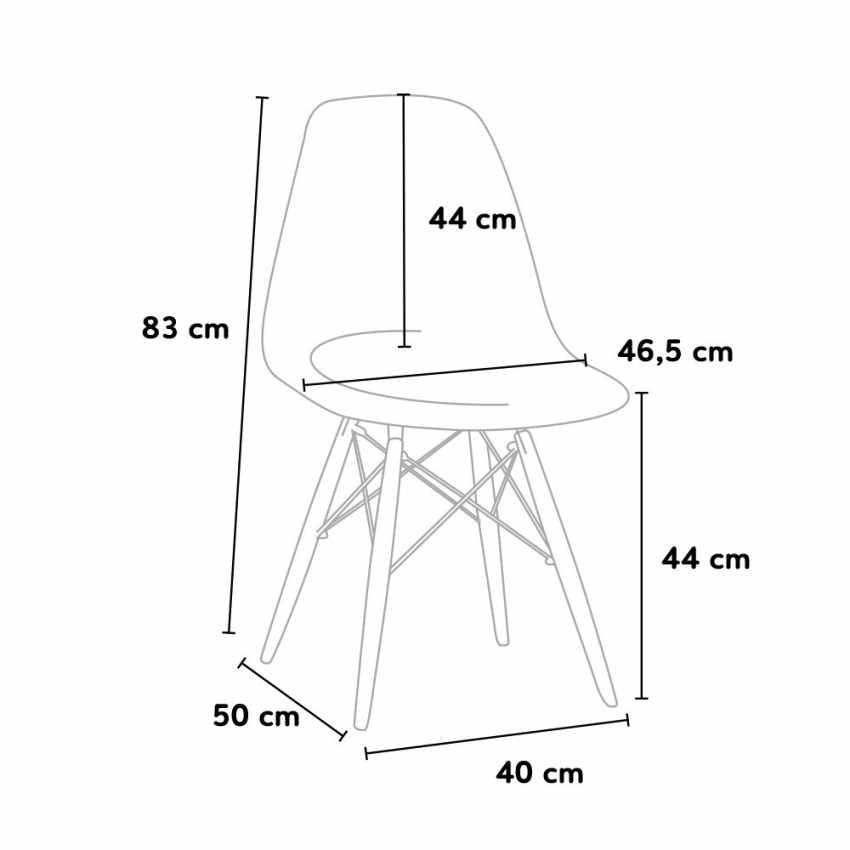 Silla WOODEN Eiffel Diseño Eamesy cocina bar sala de espera oficina madera polipropileno - photo