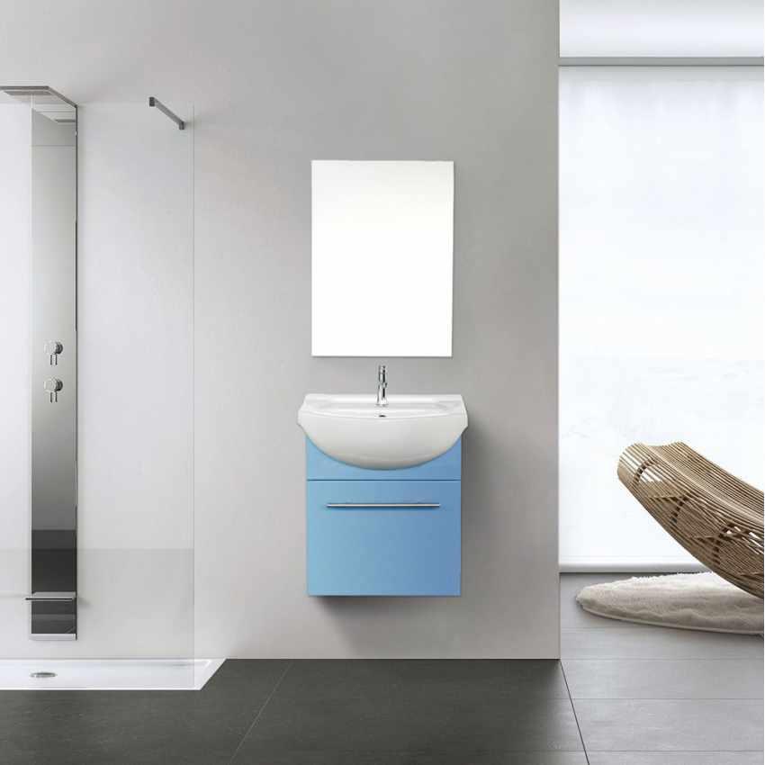 Déco pour la salle de bain Complet de Meuble Évier et Miroir en Céramique et Acier Inox - sales