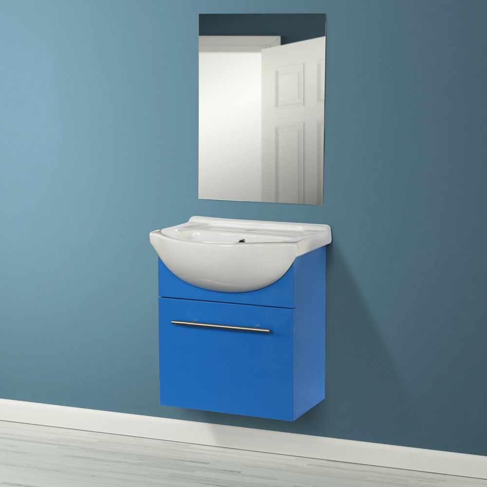Deco-pour-la-salle-de-bain-Complet-de-Meuble-Evier-et-Miroir-ANDROMEDA miniature 24