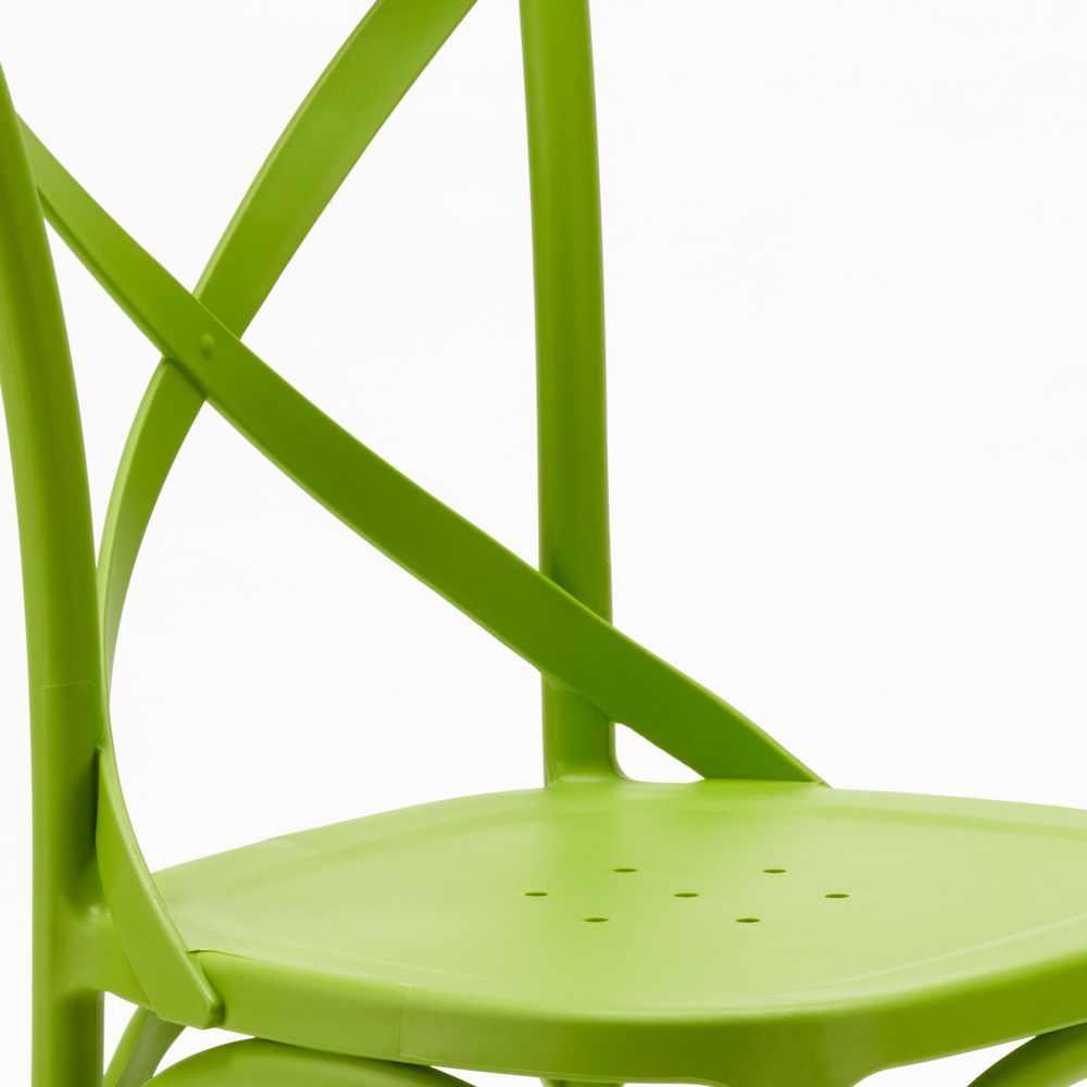 Polypropylène Chaise De Vintage En Design Paysan Cuisine Cross Restaurant EWH2I9D