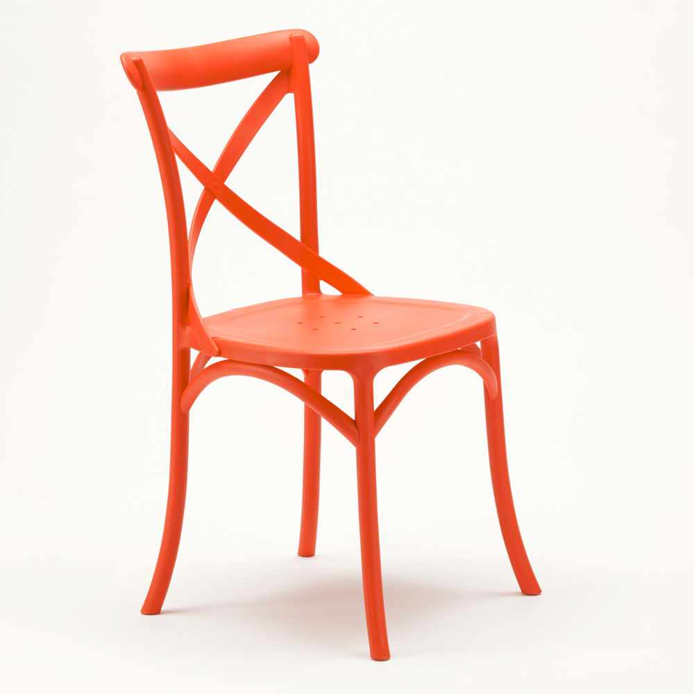 Stock-20-chaises-restaurant-bar-polypropylene-VINTAGE-brasserie miniatuur 36