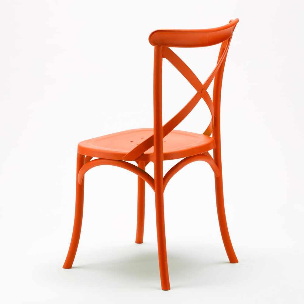 Stock-20-chaises-restaurant-bar-polypropylene-VINTAGE-brasserie miniatuur 37
