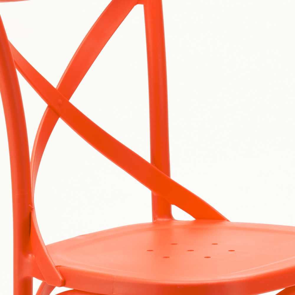 Stock-20-chaises-restaurant-bar-polypropylene-VINTAGE-brasserie miniatuur 38