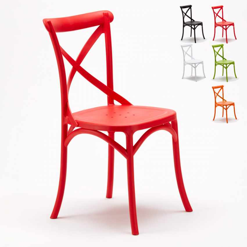 Lot of 20 Polypropylene Design Chair Vintage Style Home Interiors Restaurants CROSS - image