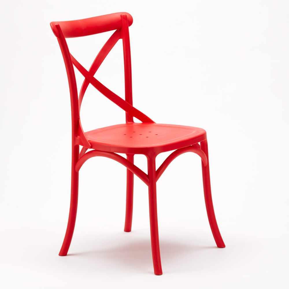Stock-20-chaises-restaurant-bar-polypropylene-VINTAGE-brasserie miniatuur 30