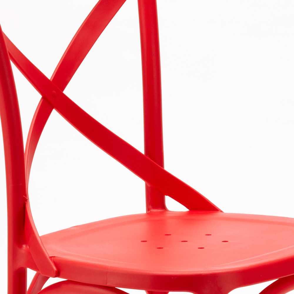 Stock-20-chaises-restaurant-bar-polypropylene-VINTAGE-brasserie miniatuur 32