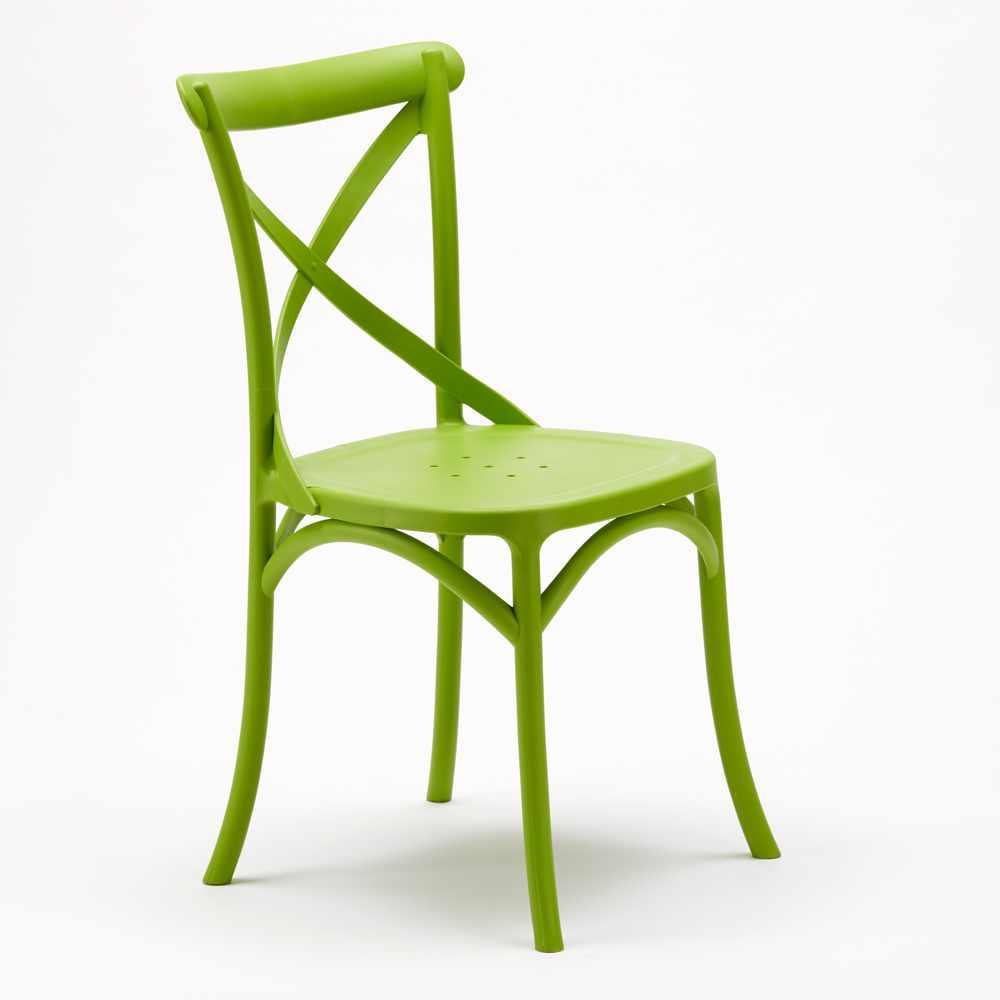 Stock-20-chaises-restaurant-bar-polypropylene-VINTAGE-brasserie miniatuur 12
