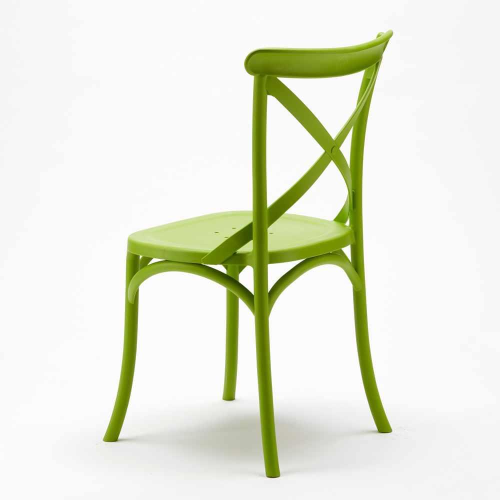 Stock-20-chaises-restaurant-bar-polypropylene-VINTAGE-brasserie miniatuur 13
