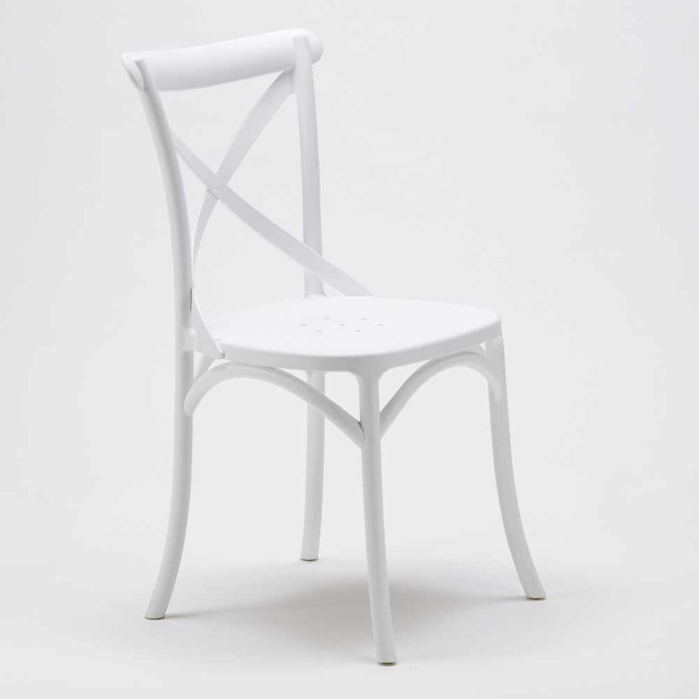 Stock-20-chaises-restaurant-bar-polypropylene-VINTAGE-brasserie miniatuur 24
